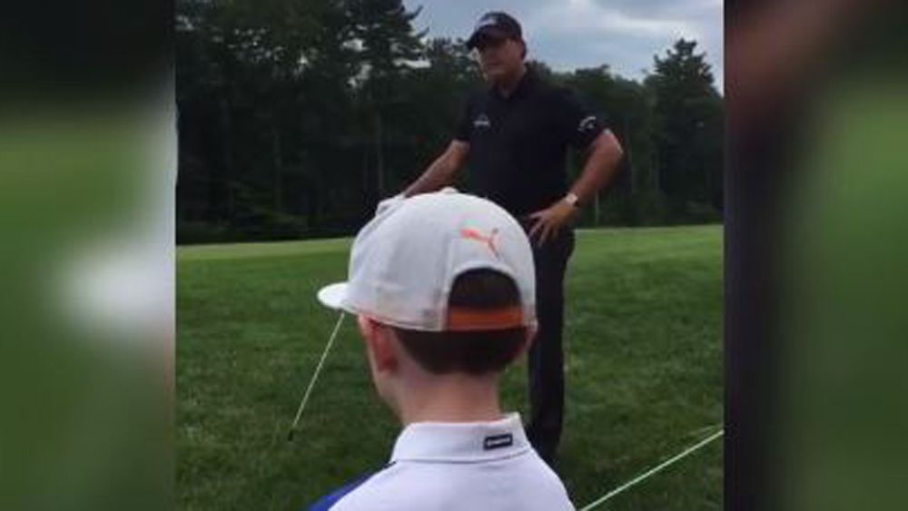 Phil Mickelson takes advice from kid during round at Dell Technologies Championships
