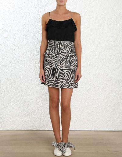 "<a href=""https://www.zimmermannwear.com/corsage-safari-mini-skirt-zebra.html"" target=""_blank"" title=""Style Pick-Zimmermann Corsage Safari Mini Skirt, $450""><em>Style Pick-Zimmermann Corsage Safari Mini Skirt, $450</em></a>"
