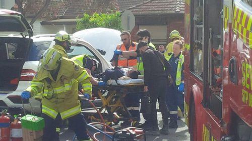 Mehajer was rushed to Westmead Hospital. (9NEWS)