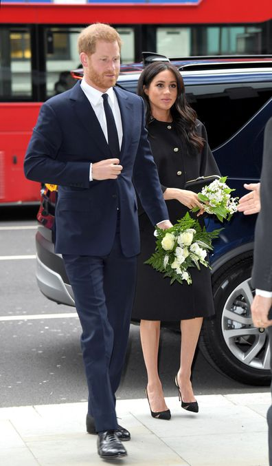 The Duke and Duchess of Sussex arrive at New Zealand House.