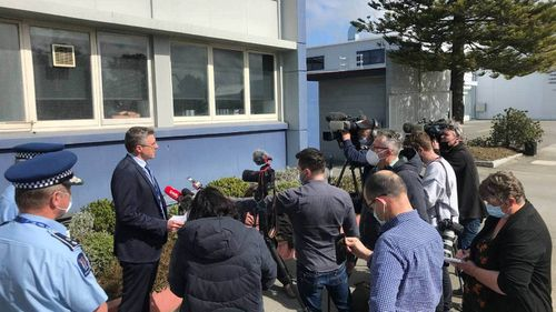 Police address media following the discovery of the bodies of three children at a house in Timaru.