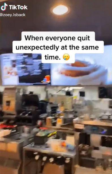 McDonalds employee walk out