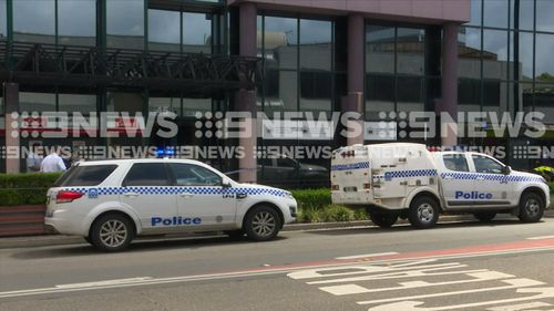 Police outside the Samoan Consulate on Scott Street in Liverpool.