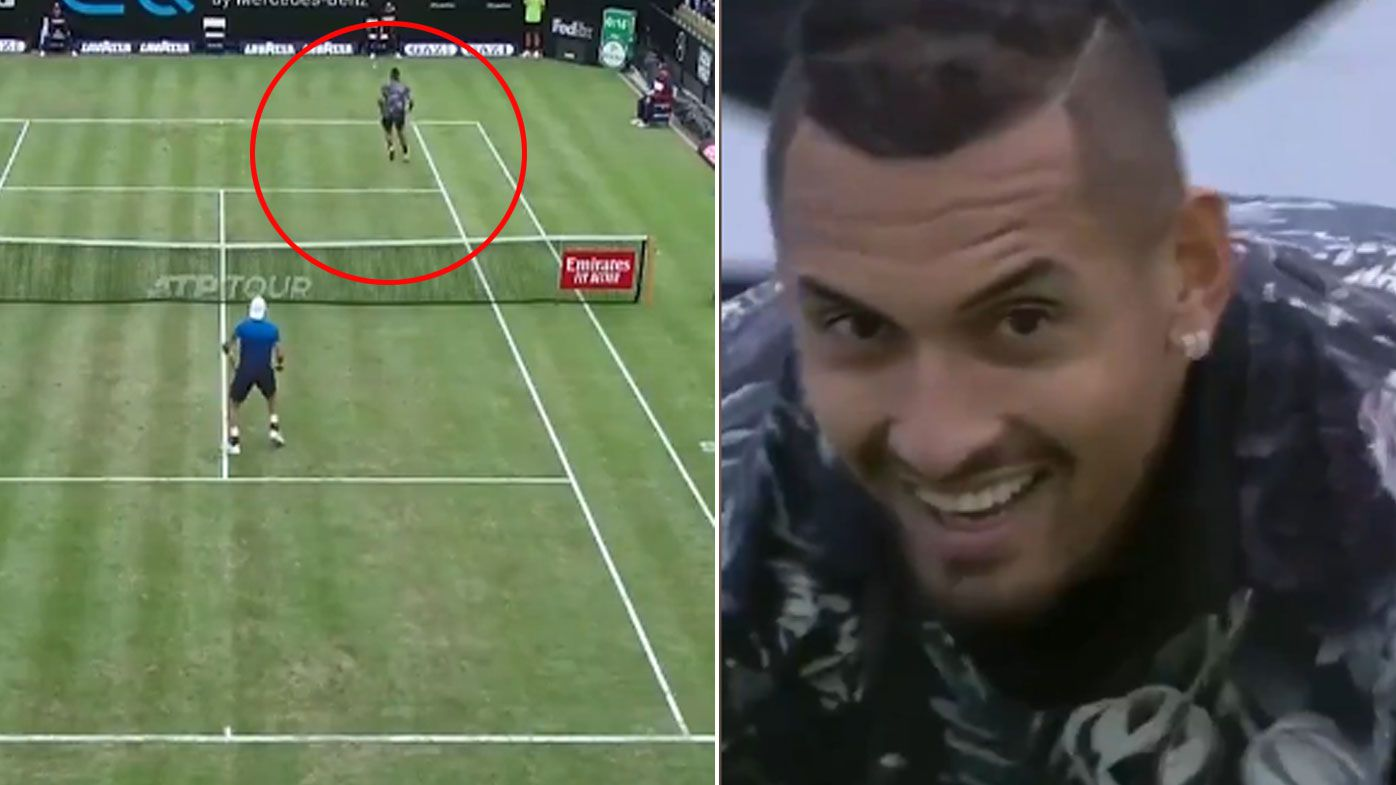 Nick Kyrgios wows Stuttgart with underarm serve-tweener combo