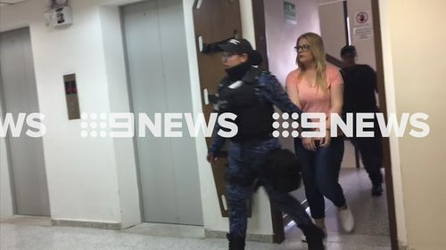 Cassie Sainsbury has arrived in court. (9NEWS)