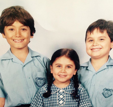 Jo Abi's three children (from left) Philip, 16, Caterina, 10 and Giovanni, 11.