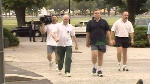 John Howard on his famous morning walk on September 11, 2001.