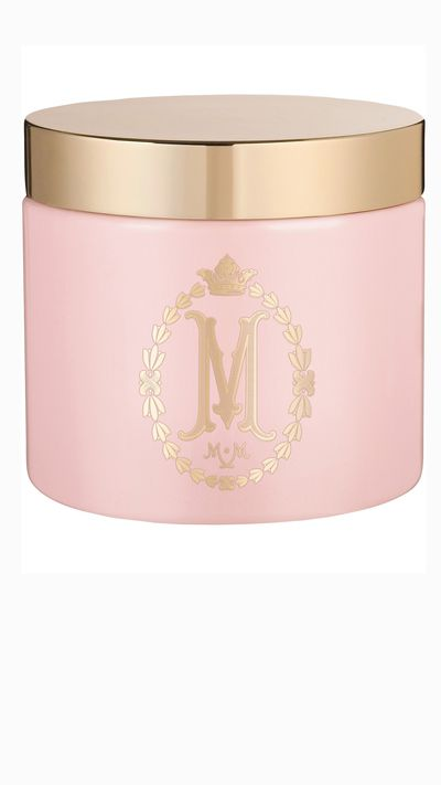 """<a href=""""http://www.myer.com.au/shop/mystore/mor-marshmallow-sugar-crystal-body-scrub#"""" target=""""_blank"""">Marshmallow Sugar Crystal Body Scrub, $39.95, MOR</a><br><p>Sugar crystals drenched in peach, soybeans and avocado oils – delicious.</p>"""