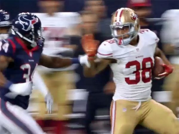 Hayne's famous run excites mic'd-up teammate