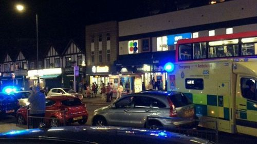 Three people have been shot outside a tube station in London. (Supplied)