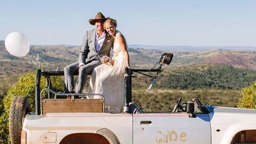 The couple were married at their Mannahill property early last year. Picture: Supplied