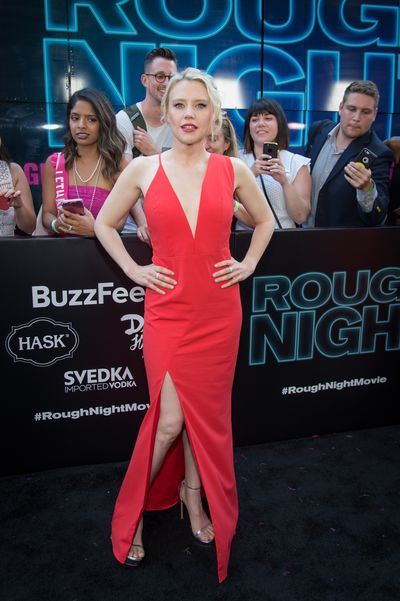 Kate McKinnon at the premiere of <em>Rough Night</em> in New York.
