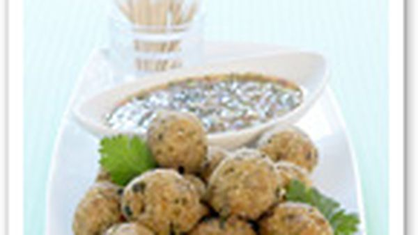 Chicken and coconut meatballs