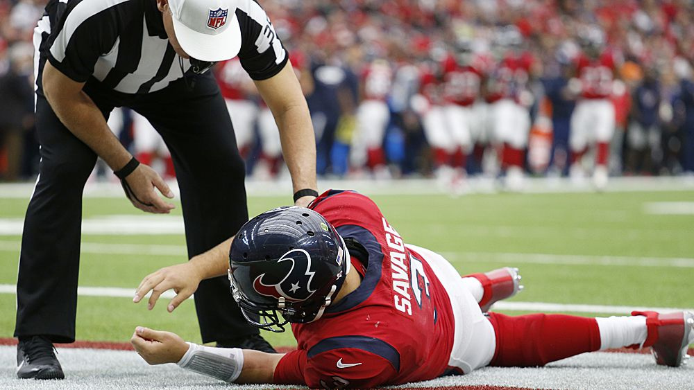 NFL concussion protocol criticised after Houston Texans quarterback Tom Savage able to return to game following hit