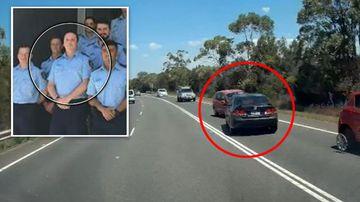 Lucas Heights car crash Police officer