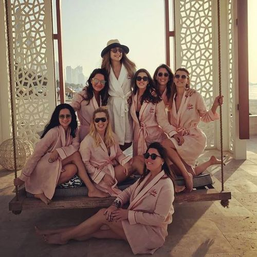Ms Basaran and her hens party group were snapped in Dubai just days before the plane went down. (Instagram)