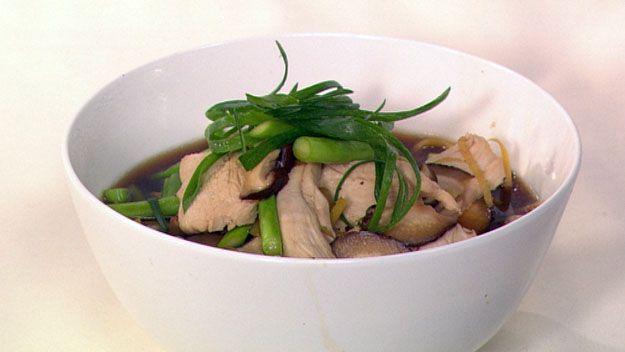 Fragrant asian chicken noodle soup