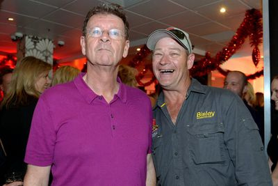 Red Symons wouldn't crack a smile with The Blockinator and foreman Keith Schleiger