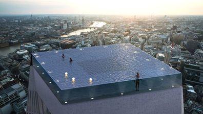 rooftop infinity pool london