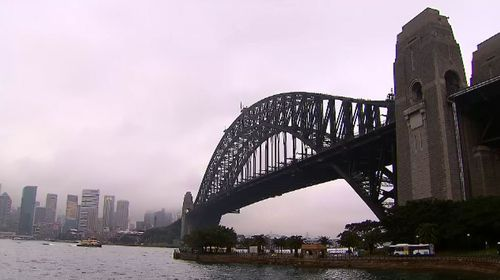 There was a small amount of rain in Sydney this morning.