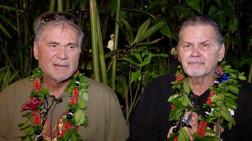 Alan Robinson and Walter Macfarlane are interviewed in Honolulu. (AAP)