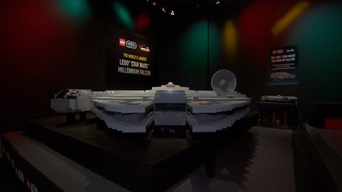 Unlike its movie counter-part, the Lego Falcon won't be making the Kessel run in 12 parsecs. (9NEWS)
