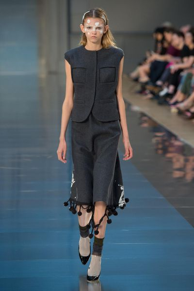 <p>John Galliano proved beyond a doubt that he is the master of reinvention with his latest Haute Couture collection for Maison Margiela. After his departure from Dior in 2011 following a racist tirade in a Parisian cafe, the designer took a four years hiatus before returning to fashion in January. Last night's Fall 2015 Haute Couture runway was a testament to his originality, featuring everything frompizza-cutter shoe spurs to otherworldly, sculptural pieces - not to mention thepiècede résistance, a plastic bridal look.<br /><br /></p>