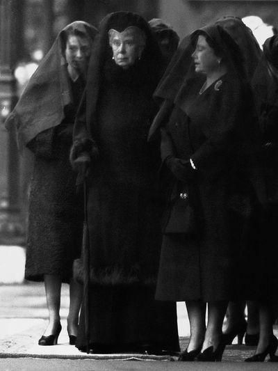 Queen Elizabeth, Queen Mary and the Queen Mother, February 11, 1952
