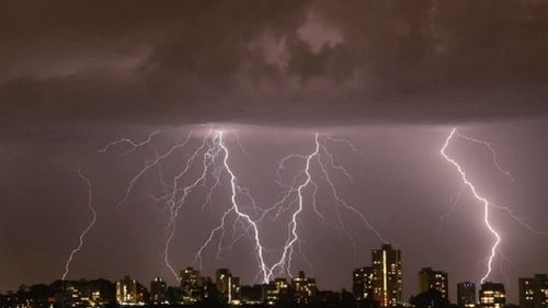 Lightning strikes were recorded over Perth's CBD and coastal suburbs. (9NEWS)