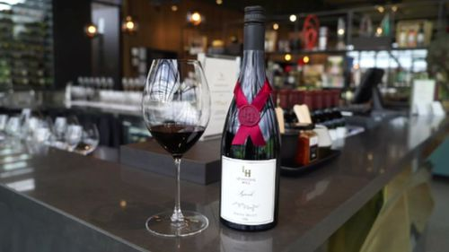 """""""He who hesitates is lost,"""" Mr Bridgeman said about the supply of the 2015 Syrah. (9NEWS)"""