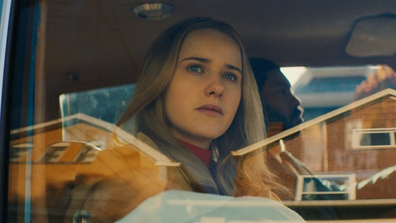 Rachel Brosnahan plays a thief's wife in the film.