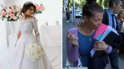 Bridal fury at dressmaker who designed gown for Mehajer wedding