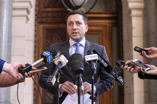 Liberal Leader Matthew Guy had previously promised a slightly faster trip from Geelong.