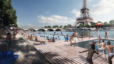Plans to turn the Seine into a family friendly urban park