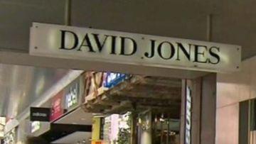 David Jones department store sign.