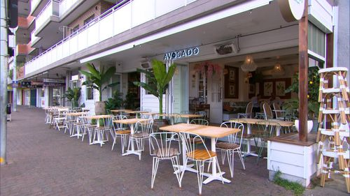 A Sydney man accused of staging his own kidnapping was found sitting at this Brighton le Sands cafe, unharmed.