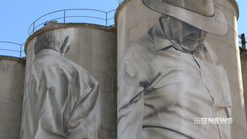 portland silos turned into an artistic masterpiece