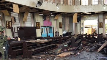 At least 20 people have been killed in a church bombing in the Philippines.