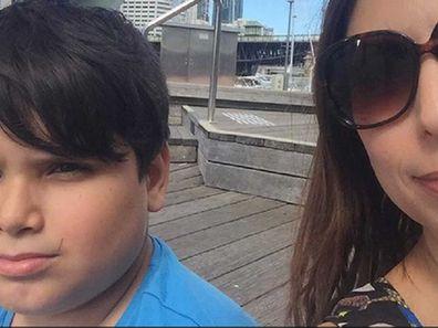 Jo Abi and her son Giovanni