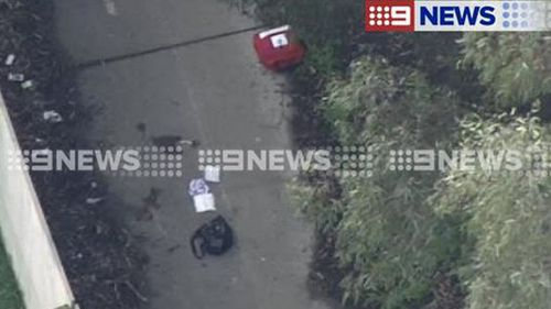 The female victim, aged in her 20s, has been flown to hospital. (9NEWS)