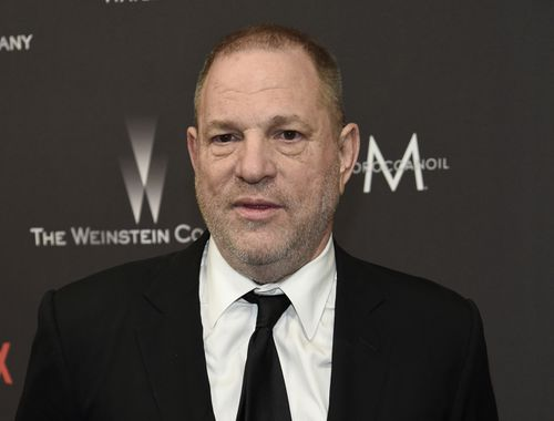Disgraced film mogul Harvey Weinstein became the butt of Meyers' jokes at the Golden Globes.