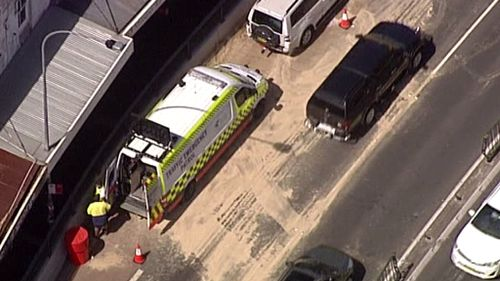 Fire crews are on site cleaning up the spill. (9NEWS)