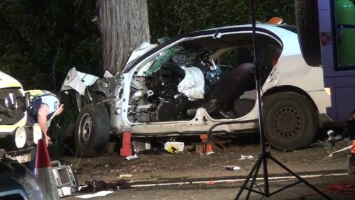 Logan's father was also a passenger in the vehicle and came away with serious injuries. Picture: 9NEWS.