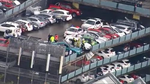 Emergency services were called to level six of Mater Hospital. (9NEWS)
