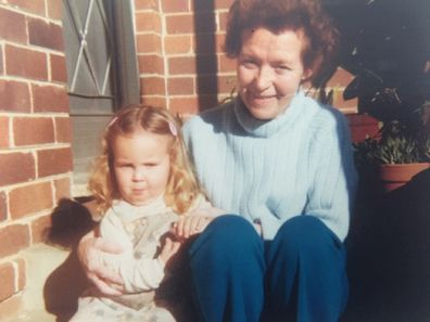 Betty with Corrie when she was a toddler.