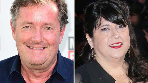 Piers Morgan and EL James. (AAP)