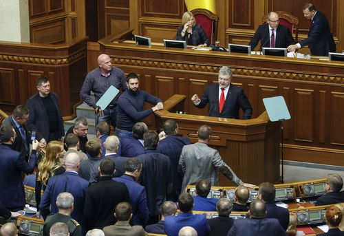 Ukraine's president Petro Poroshenko asked parliament to impose martial law, something the country has not done before.
