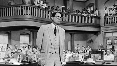 Gregory Peck in his Oscar-winning role as Atticus Finch in To Kill a Mockingbird.<br><br>