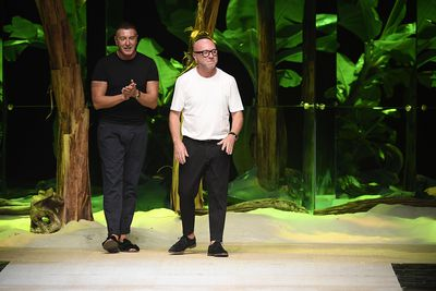 <p>Domenico Dolce and Stefano Gabbana, Dolce &amp; Gabbana autumn/winter '17</p> <p><strong>The look:</strong> Exhaustion</p>