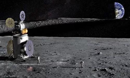 Artist's impression of the Artemis Lander on the lunar surface. NASA